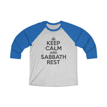 Load image into Gallery viewer, Keep Calm Sabbath Rest Baseball Tee - Adventist Apparel