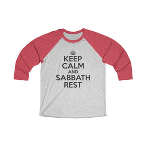 Keep Calm Sabbath Rest Baseball Tee - Adventist Apparel
