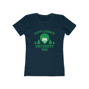Happy Sabbath University Women's Tee - Adventist Apparel