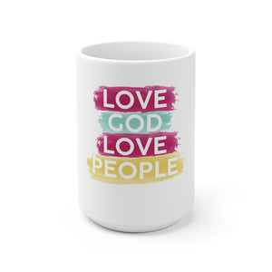 Love God Love People Mug - Adventist Apparel