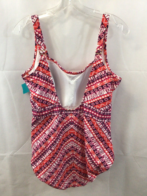 Lands' End Coral print Size 16 Ladies Swimwear