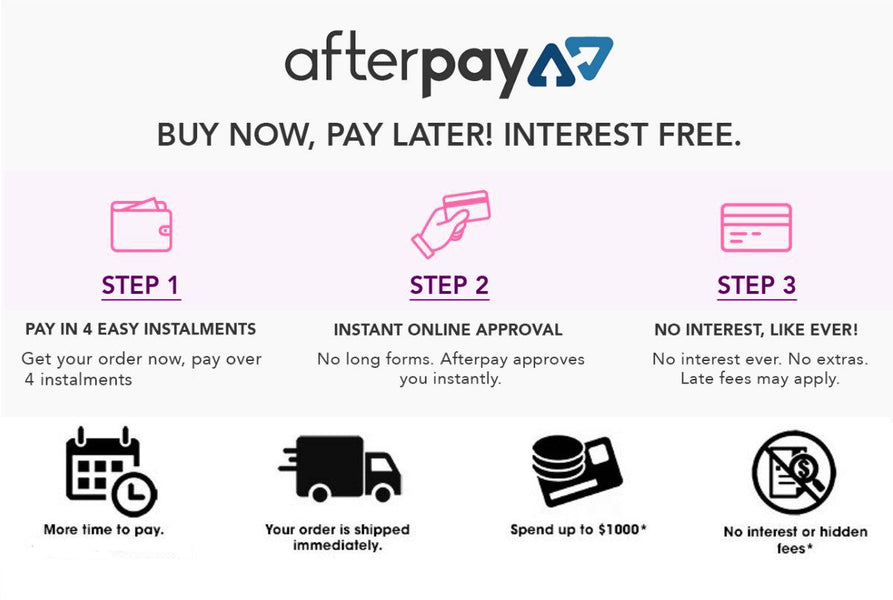 Get what you want when you want with AFTERPAY 💎