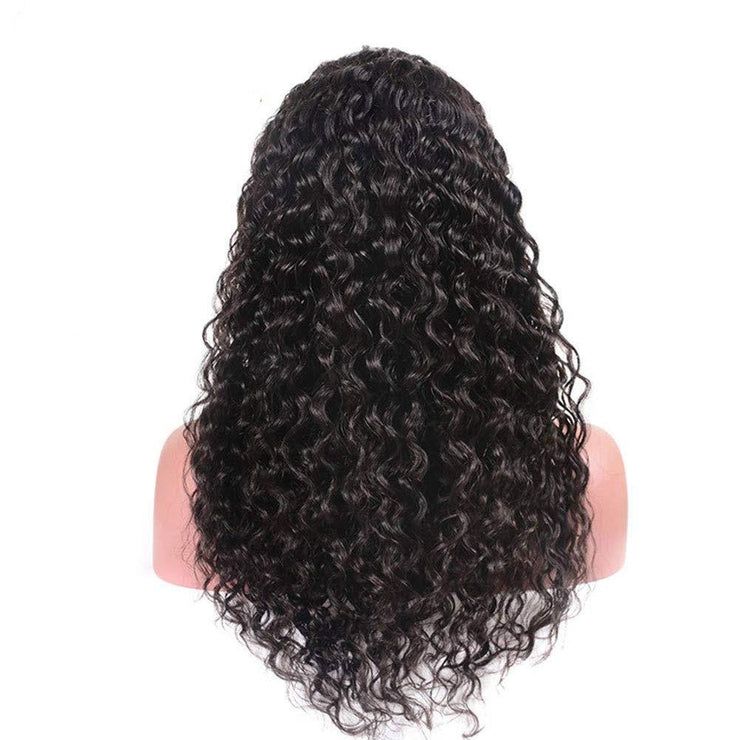 Human Hair Lace Front Wigs Deep Wave 13x4 Human Hair Wigs for Black Women 150% Density Brazilian Virgin Hair Deep Curly Wigs with Baby Hair Pre Plucked Natural Hairline Human Hair Wigs (22 Inch)
