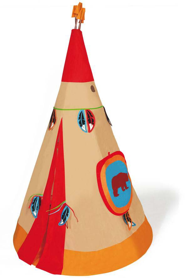 Tente Tipi indien rouge