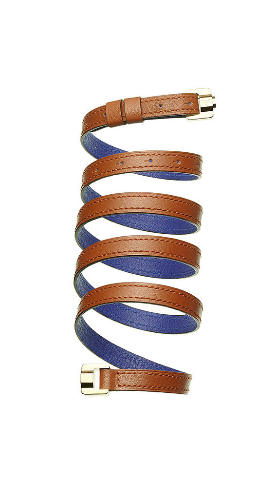Cassandre Terracotta & Gold Leather Bracelet & Belt