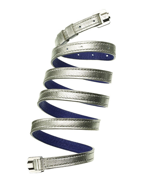 Cassandre Silver & Steel Leather Bracelet & Belt