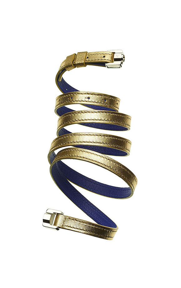 Cassandre Gold & Steel Leather Bracelet & Belt
