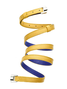 Cassandre Tournesol & Steel Leather Bracelet & Belt