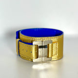 Julia Gold Lambskin Narrow Cuff