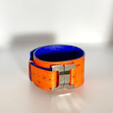Julia Ostrich Orange Narrow Cuff