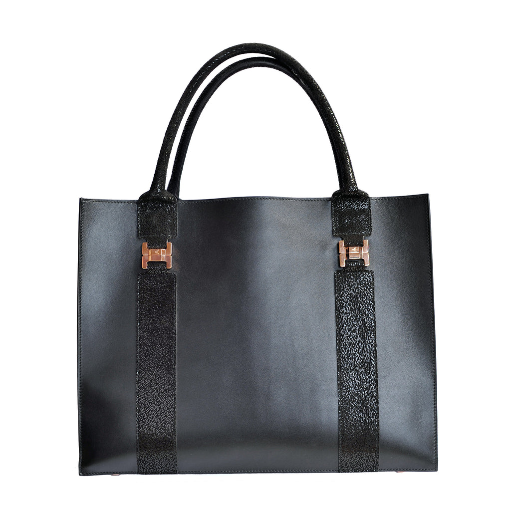 IVANKA M BLACK HANDBAG