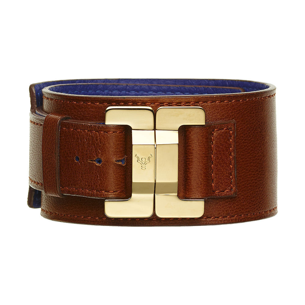 Julia Lambskin Terracotta Narrow Cuff