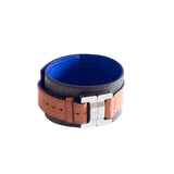 Maximilien Men's Leather & Steel Cuff