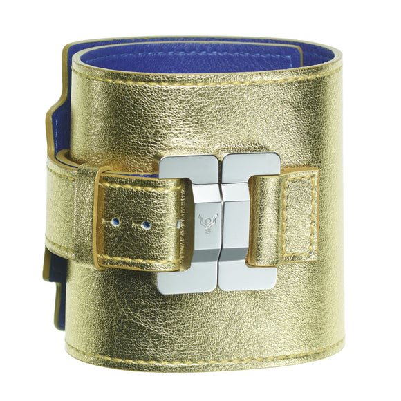 Salomé Lambskin Gold Wide Cuff