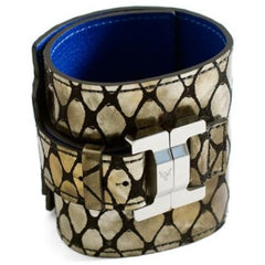 Salomé Lambskin Copper Mock Snake Wide Cuff