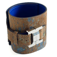 Salomé Lambskin Splash Brown Wide Cuff
