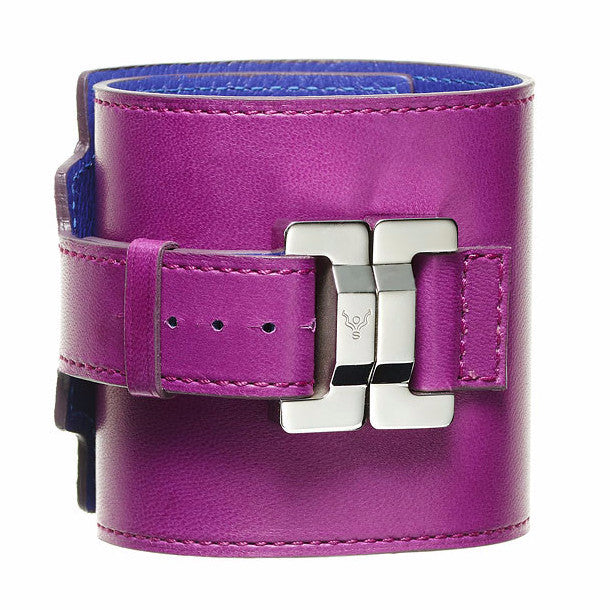 Salomé Raisin Lambskin Wide Cuff