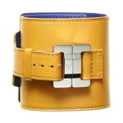 Salomé Tournesol Lambskin Wide Cuff
