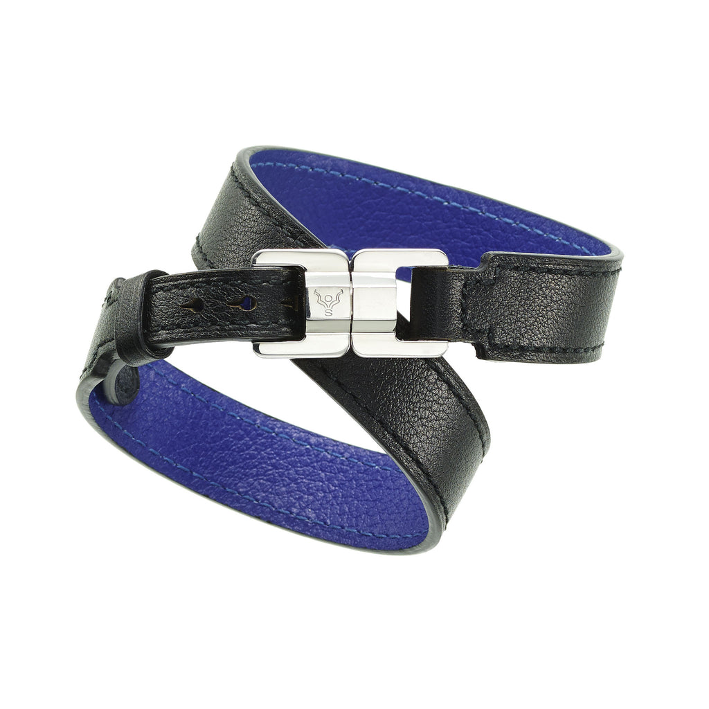 NEW:  Xandra Double-Wrap Leather Bracelet