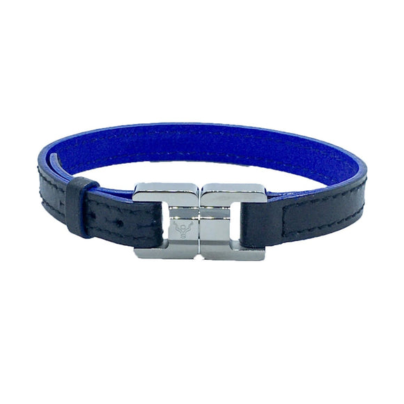 Sasha Men's Slim Leather & Steel Bracelet