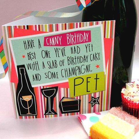 Geordie poetry Card Happy Birthday Pet