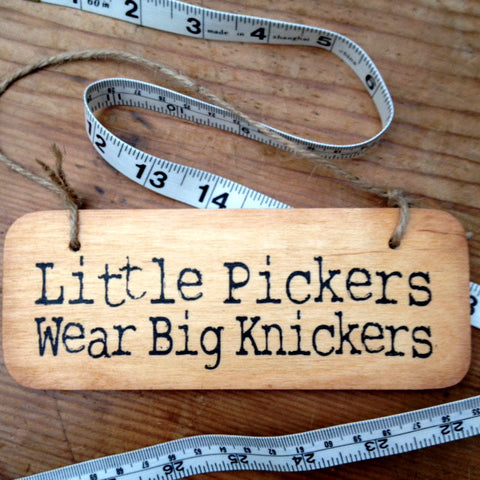 Little Pickers Wear Big Knickers Sign by Wotmalike