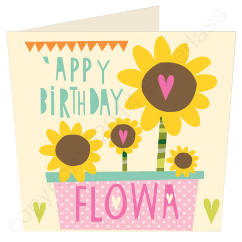 Happy Birthday Flower Manc Card, Manchester Card