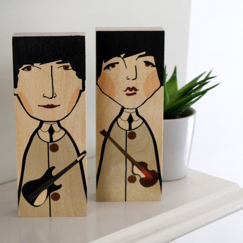John Lennon and Paul McCartney by Wotmalike Ltd
