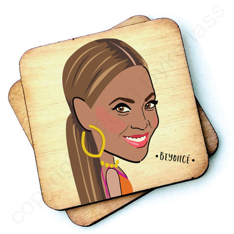 Beyonce - Character Wooden Coaster - RWC1