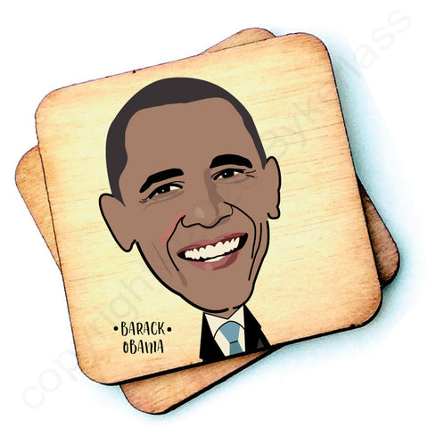 Barack Obama - Character Wooden Coaster - RWC1