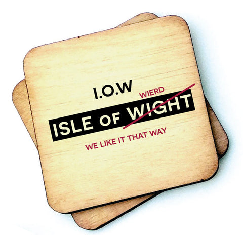 Isle of Weird - Isle of Wight - Wooden Coaster - RWC1