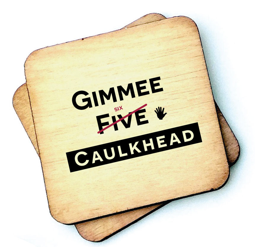 Gimme Six Caulk Head Isle of Wight - Wooden Coaster by Wotmalike
