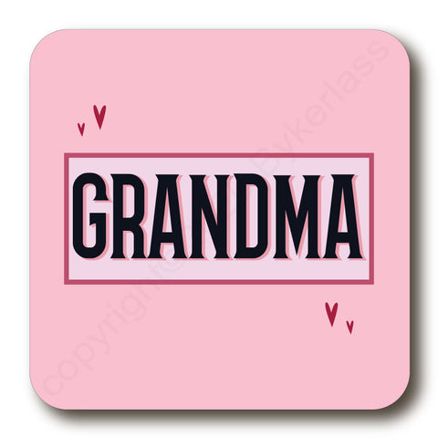 Grandma - Mothers Day Gift Cork Backed Coaster -   (MBCBC9)