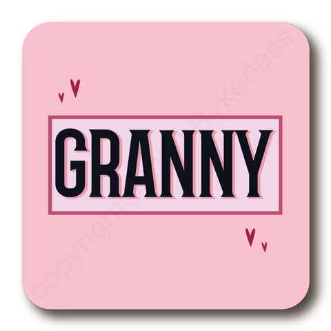 Granny - Mothers Day Gift Cork Backed Coaster -   (MBCBC10)