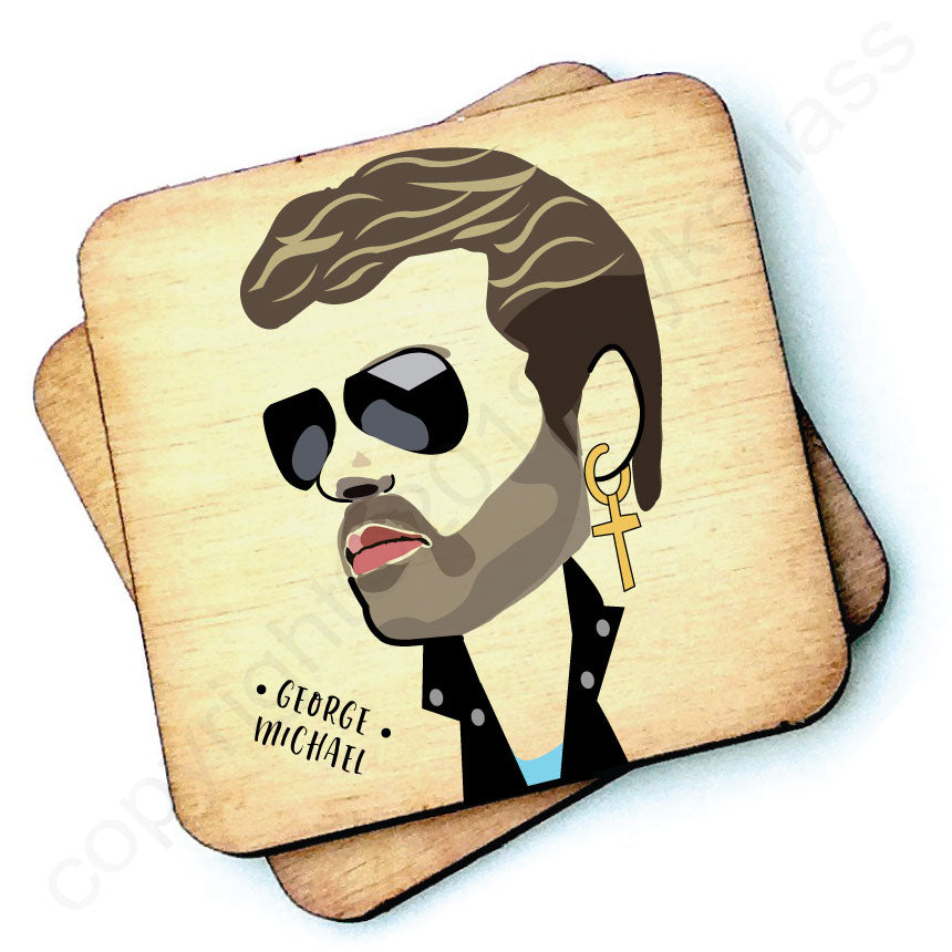 George Michael - Character Wooden Coaster - RWC1