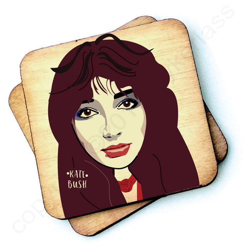 Kate Bush Character Wooden Coaster - RWC1