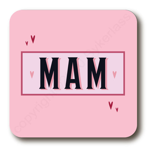 Mam - Mothers Day Gift Cork Backed Coaster -   (MBCBC4)