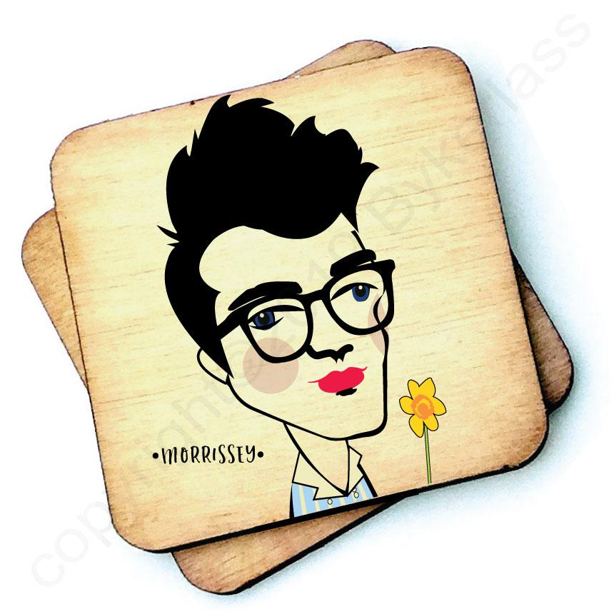 Morrissey - Character Wooden Coaster by Wotmalike
