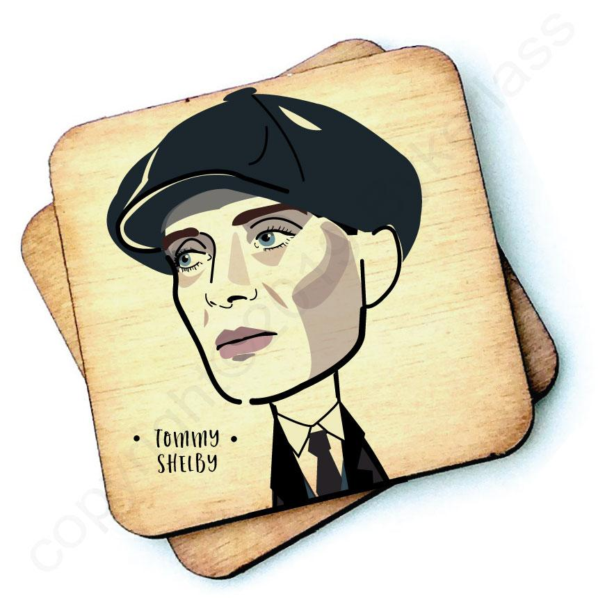Tommy Shelby With Hat Character Wooden Coaster by Wotmalike