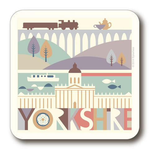 Yorkshire Scape with Train Coaster - Yorkshire Coaster  (YYC1)