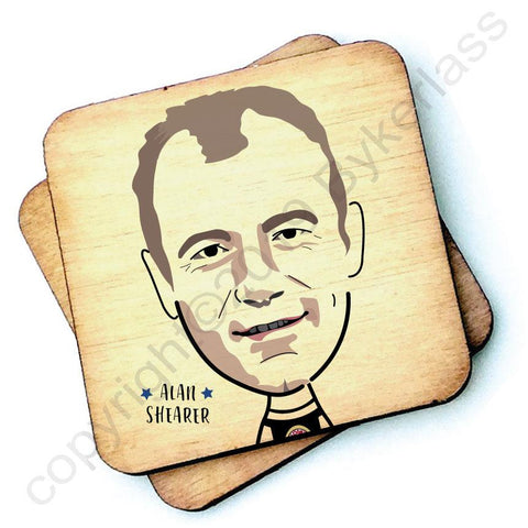Alan Shearer - Character Wooden Coaster - RWC1