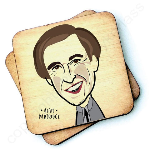 Alan Partridge Character Wooden Coaster - RWC1