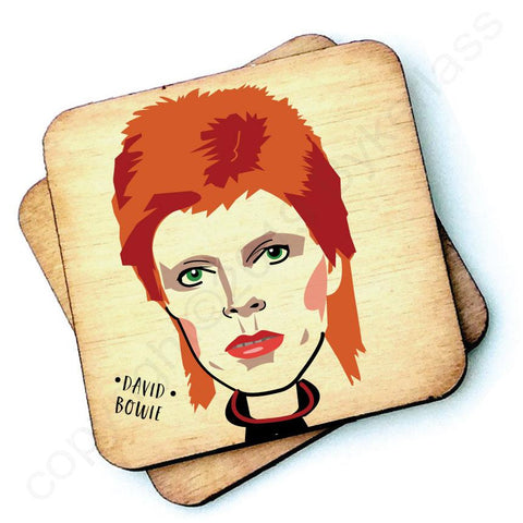David Bowie - Character Wooden Coaster - RWC1