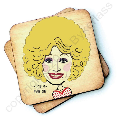 Dolly Parton - Character Wooden Coaster - RWC1