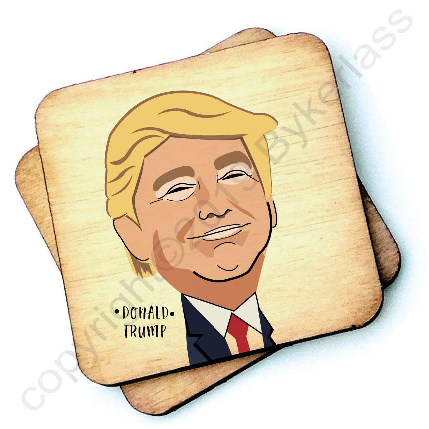 Donald Trump - Character Wooden Coaster by Wotmalike