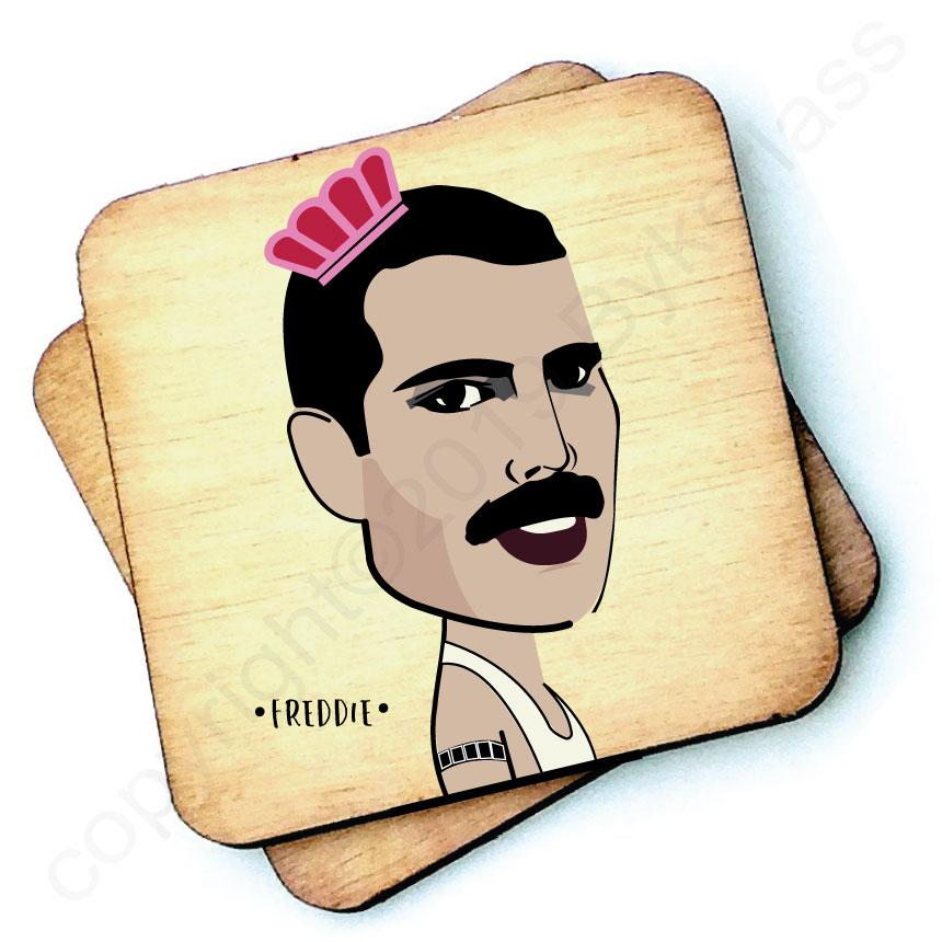 Freddie - Character Wooden Coaster by Wotmalike