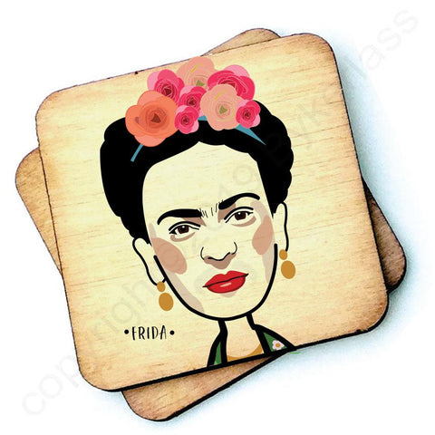 Frida - Character Wooden Coaster - RWC1