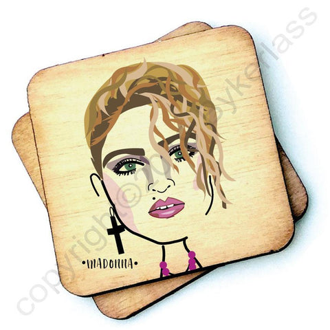 Madonna - Character Wooden Coaster - RWC1