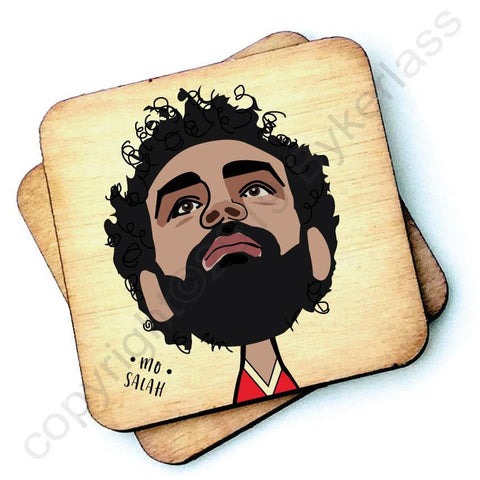 Mo Salah - Wooden Coaster - RWC1