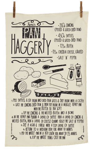 Pan Haggerty North East Recipe Tea Towel  (PHTT)